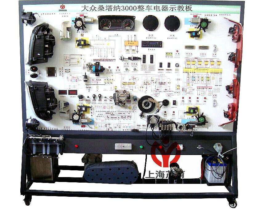 2,彩色完整的整车电器系统结构组成图和电路
